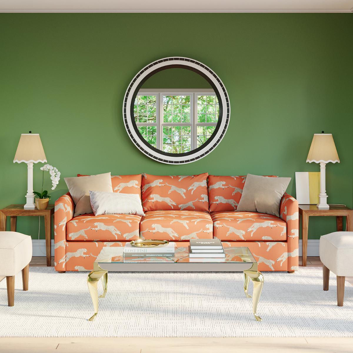 Sand Velvet Tailored Sleeper Sofa