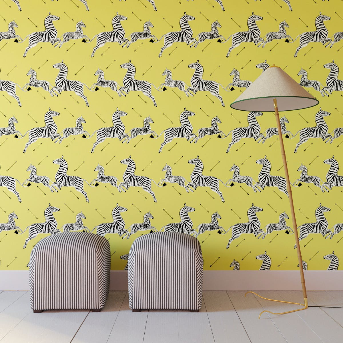 Yellow Zebra Upholstered Custom Peel And Stick Wallpaper Roll The Inside Furniture